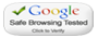 Google Safe Browsing Verified